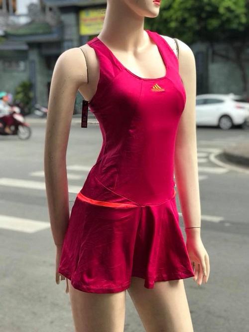 Bộ váy tennis adidas hồng
