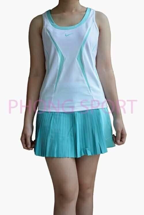 Váy rời Nike trắng phối xanh